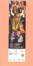 Chicago Bears Minnesota Vikings 2011 MINT tickets stub FINAL NFL GAME IN MN 2012