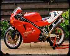 Ducati 888 Sp5 94 2 A4 Metal Sign Motorbike Vintage Aged