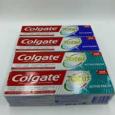 4 x Colgate Total Whitening & Active Fresh Toothpaste125ml