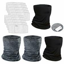 Yqxcc 4 Pcs Neck GAITER Face Cover Scarf With 20 Pcs Safety Carbon Filters -