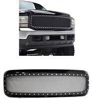 Ford F250 F350 Super Duty 1999-2004 Rivet Black Steel Mesh Front Grille Grill