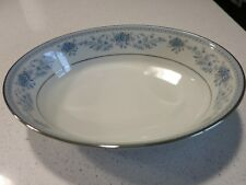 NORITAKE BLUE HILL OVAL SERVING BOWL