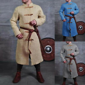 Medieval Gambeson Viking Men's Jacket Armor Trench Coat Warrior Knight Costume