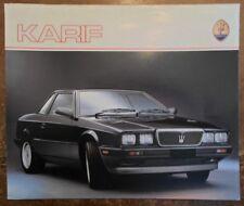 Maserati Karif ORIG UK 1988 Marketing sales brochure en anglais