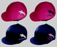 PERSONALISED Riding Skull Hat Silk Cover ~ Horse Pony Show Jumper ~ showjumping