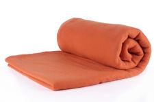 Coperta di pile in colore Arancione, Misure: 130 x 170 cm, qualità: 220 g/m²
