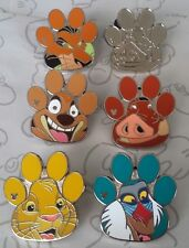 The Lion King Characters 2017 Hidden Mickey WDW Disney Pin Make a Set Lot