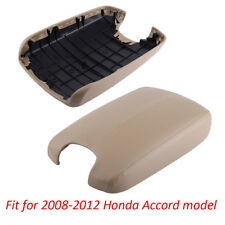 Beige Fit 08-12 Honda Accord Model Arm Rest Center Console Lid Cover With BASE