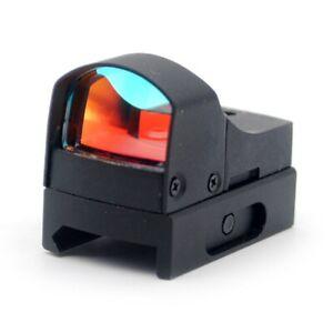 Rifle Scope Lens Mini Micro Red Dot Scope Laser Sight Picatinny 20mm W/Sunshade