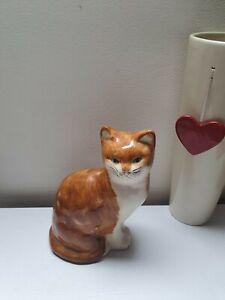 "Vintage/Old Ceramic BABBACOMB DEVON CAT/KITTEN FIGURINE ORNAMENT DECORATIVE 8.5"""