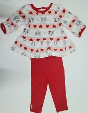 Carters 3-6 Month Winter Outfit, Long Sleeve Red Leggings...