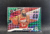 James Harden Give and Go Green Prizm Mosaic 2020 Panini #6 Houston Rockets