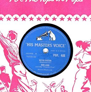 HALLOWEEN COMEDY  78  WITCH DOCTOR - DON LANG b/w COOL BABY COOL  HMV POP 488 V+