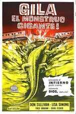 Giant Gila Monster 03 Metal Sign A4 12x8 Aluminium