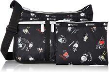 LeSportsac BT21 Black Deluxe Everyday Crossbody Bag, LeSportsac Logo Strap NWT