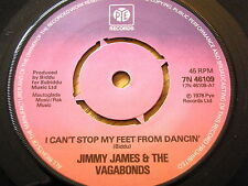 """JIMMY JAMES & THE VAGABONDS - I CAN'T STOP MY FEET FROM DANCIN'  7"""" VINYL"""