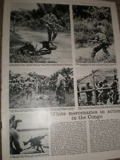 Photo article white mercenaries in action in the Congo 1964 ref Ay