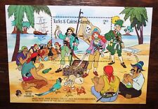 "TURKS & CAICOS 1985 ""DISNEY - PIRATES"" MNH** BLOCK (CAT.J)"