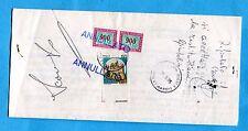 1995 CASTELLI £.50 USATO COME SEGNATASSE + S.TASSE £.900 COPPIA  (261609)