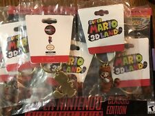 Super Mario 3D Land Tanooki Mario Nintendo 3DS Promo Metal Key Chain
