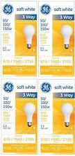 GE 97494 Lighting 50/100/150-Watt, 3-Way Light Bulb, Soft White, 4-Pack, New, Fr