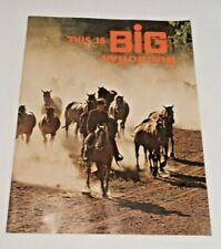 Vintage - THIS IS BIG WYOMING  - Tourist Book - 1970 - WYOMING Highway Map