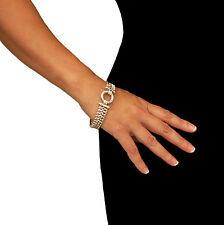 Cadena pesada pulsera 925 plata esterlina Taxco
