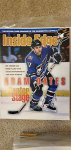 Adam Oates NHL HOFer Autographed Magazine WASHINGTON CAPITALS