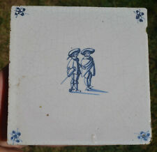Nice Antique 17 - 18th Delft tile 5in