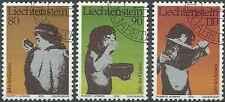 Timbres Liechtenstein 666/8 o lot 6454