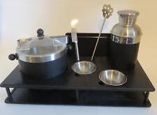 Oggi Portable Bar Set Martini Cocktail Shaker Ice Bucket Cutting Board Stand