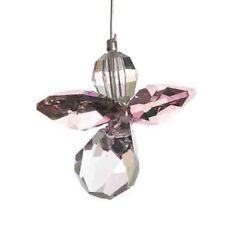 Rosa ángel guardián Swarovski Elemento Colgante Cristal suncatcher & Bolsa De Regalo
