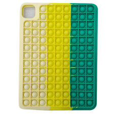 Rainbow Silicone Pop Fidget Toy Protective Case Cover For iPad Pro 11 (2020)