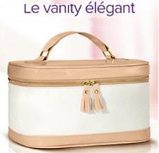VANITY ELEGANT - Bi-matière CHIC blanc/rose poudré brillant - NEUF sous blister