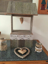 RUSTIC WOODEN  HANDCRAFTED WISHING WELL MADE TO ORDER POSTAGE ON REQUEST
