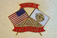 US USA WW II Veteran Military Hat Lapel Pin