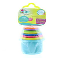 The First Years Toddler Stack and Count Cups Stackable Nesting Toy, Ages 6m+