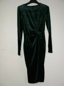 First & I Wilma Velvet Dress Green Size Large rrp £25 DH002 EE 02