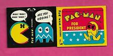 2 X RARE 1980 FLEER PAC-MAN STICKER  CARD (INV# C3185)
