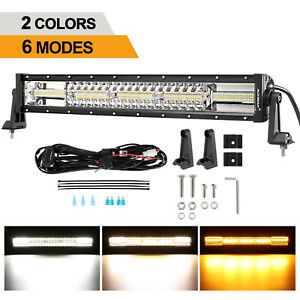 22Inch LED Work Light Bar Flood Spot Combo Offroad Work Driving 4WD Truck Boat