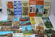 Vintage Holland Michigan Paper Souvenir Items Brochures Booklets Postcards