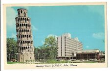 LEANING TOWER Replica New YMCA Touhy Ave Y.M.C.A.  NILES Illinois Postcard IL