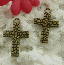 free ship 270 pieces bronze plated cross charms 22x14mm #2129