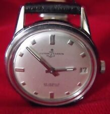 Vintage Ulysse Nardin Incabloc Automatic Men's 25J Date Watch, Running, SS Case