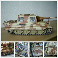 New DIY 1/25 German Tiger Hunting Heavy Tank Destroyer 3D Paper Model Puzzle Kit