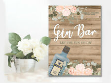 Gin Bar Personalised Wedding Display Sign METAL Plaque Decor Large