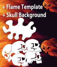 Airbrush Skull Background 1 Stencil  Skulls Template air brush Spray Vision
