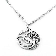Pendentif Collier Game Of Thrones Targaryen Sigil Dragon