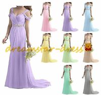 STOCK Long Formal Bridesmaid Dresses Evening Prom Party Wedding Ball Gowns 6-20