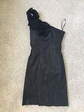 Women's Black Short Formal Dress One Strap Size 10